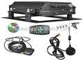De alta calidad móvil de circuito cerrado de televisión imágenes de disco duro 500gb 4 - canal de audio/de grabación de vídeo dvr móvil con control remoto ir
