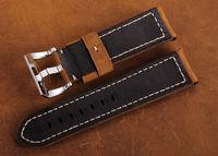24/22mm Custom handmade italian leather ribbon band watches