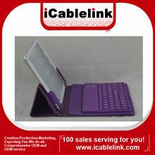 Ultra-thin Wireless Bluetooth Keyboard Leather Case For Mini ipad Purple