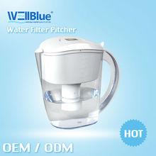 3.5L alkaline water filter pitcher purifier, brita style pitcher