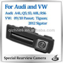 waterproof HD night vision car backup reverse rear view handlcamera for Audi S5 Q5 A4L A8L RS6 for VW Passat Tiguan 2012 Sagitar