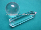Natural Vogel Style Clear Quartz Crystal 6 sided Wand Point + Ball CB-031