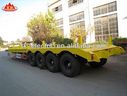 Heavy duty 60 tons four-axle flat-bed semi-trailer