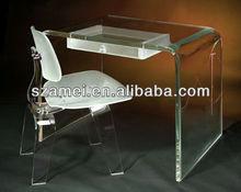 High grade clear acrylic U shape notebook /laptop desk