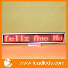 lighting bus led display panel show message and stops
