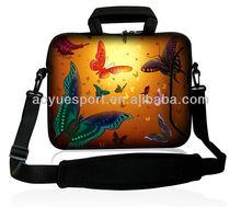 2012 butterfly design pattern neoprene laptop sleeve for 13 inch wih handle