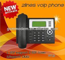 2 LINE voip phone/SIP ip phone/sip desk phone