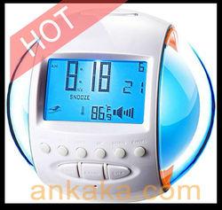 Nature Sound Alarm Digital Clock With FM Radio