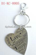 2013 new design metal keychains customized metal keychain