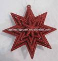 2013 decoración de la navidad, estrella de acrílico ornamento