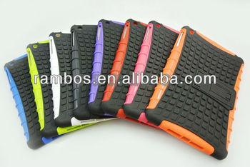 New Hybrid Multicolor Protector Shield PC + Silicon Kickstand Tablet PC Case for iPad Mini