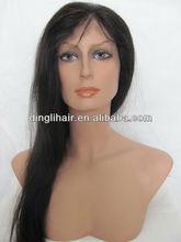 Fashionable amazing straight human hair wigs black