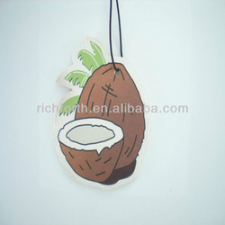 Paper freshener with Coconut shape