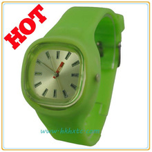 Hot 7 colors light up silicone jelly watch