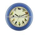 quartz relógio de parede com o som de pássaros