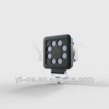 24w 3w*8pcs LED Work off road Light for atv suv truck excavator forklift Pencil Beam Light