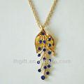 Azul piedras joyería collar colgante, aleación de joyas/amor joyería/collar de la aleación