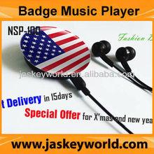NEW Rechargable MP3 Player Mini USB MicroSD Card Reader