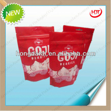 popular food grade stand up ziplock pouch/ custom printed pouch packs with clear windows
