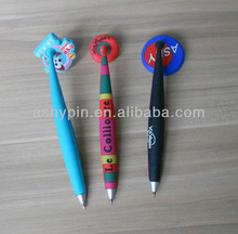 charm 3D pvc hanging magnet pen for promotion