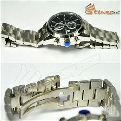 New Stylish Luxury Men's Mechanical Watch Chronograph Stainless Steel Watch LF-1846