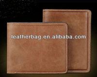 Fashion plain cowhide leather purse for woman