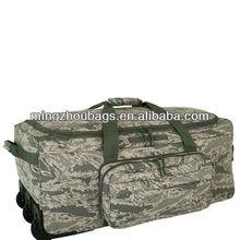 2013 New design military waterproof duffle trolley bags