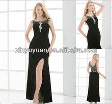 2013 Beautiful High Neck crystal beaded velvets evening dress XYY06-017
