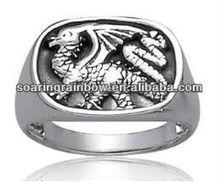 silver dragon rings