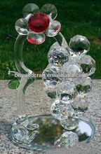 venda quente de cristal uva para vinho decoração