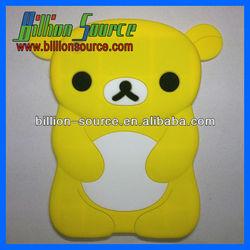 3D bear panda silicone soft Back Case Cover for Apple iPad mini