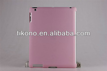 Pink plastic cover case for ipad2/3/new ipad
