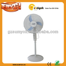 2012 new price with touch button 15w solar DC fan
