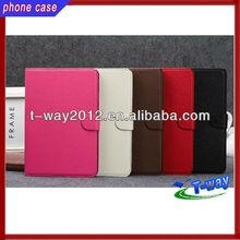 2013 good selling book leather case for ipad mini