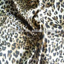 Satin leopard print fabric