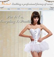 Wholesale Ladies' Party Corset with Mini Skirt