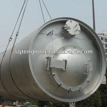rifiuti di riciclaggio di pneumatici della macchina di pirolisi con tappo di 6 tonnellate al giorno