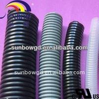 PVC or PU corrugated tube/Corrugated wire loom/Corrugated pipe
