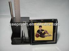 Spot supply desktop pen holder/card holder organizer with 10 digits calculator with calendar and photo frame
