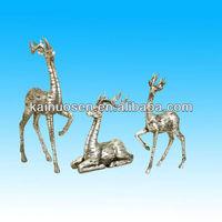 Silver decoration polyresin reindeer