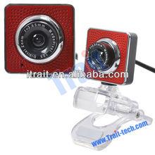 HD PC Webcam, Laptop Web Camera, 20 Maga Pixel Camera 2.0 USB MIC Webcam with Crystal Clamp