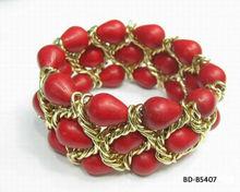Popular acrylic colored stones bracelet cheap prices