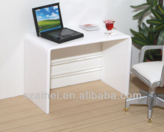 ... Product Details: bespoke exquisite white acrylic computer desk table