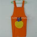 lona impresa de apple los niños delantal con el bolsillo