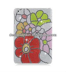 full diamond crystal case for ipad mini Full CS Diamond Protector Case Flower beauty case