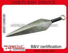novelty 16gb Ninja weapon metal flash drive usb memory disk