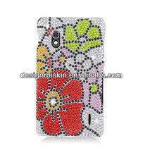 full diamond crystal case for LG Optimus G E970 Full CS Diamond Protective Case Flower beauty case