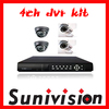 4 Channel CCTV System Kit DVR Kit Camera Kit