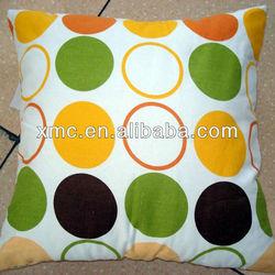 100 polyester pillow case circle and polka dot design