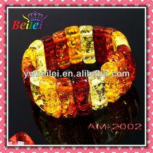 Vintage multicolor baltic amber bracelets for wholesaler,amber stone bracelet